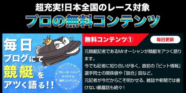 ブルーオーシャン競艇予想特徴