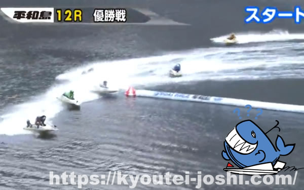 ボートレース平和島周回展示2マーク