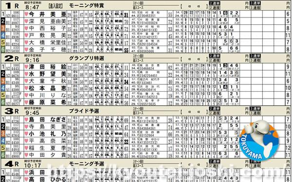 ボートレース徳山企画レース番組表